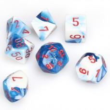 Dice 7-set Gemini Astral Blue White