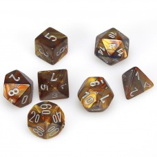 Dice 7-set Gemini Lustrous Gold Silver