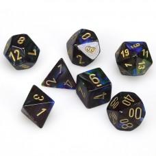 Dice 7-set Gemini Lustrous Shadow Gold